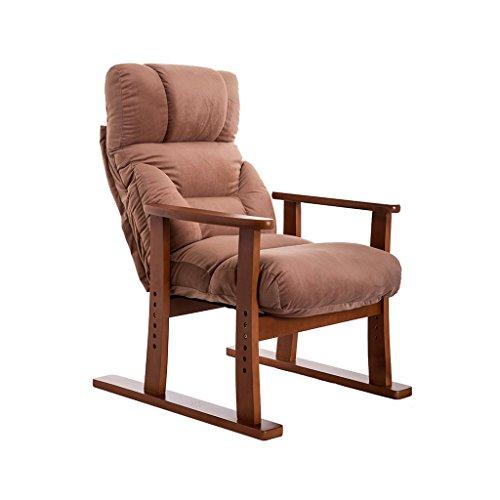 Fauteuils inclinables Fauteuils et Chaises Tatami Chaise Longue inclinable Chaise de Jardin Bonne Chaise pour Les Personnes âgées Chaise de Loisirs de la Maison de Mode Chaise Longue (Color : Brown)