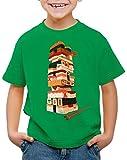 CottonCloud Sushi Tower Camiseta para Niños T-Shirt Juego japonés, Color:Verde, Talla:116