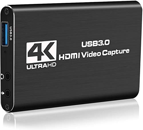 Y&H Game Capture Card, 4K USB 3.0 HDMI Capture Card mit 1080P 60FPS HDMI-Loop-Out Live-Streaming für PS5/PS4, Xbox One&Xbox 360 und Mehr