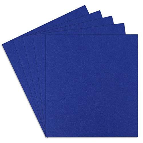 SAVITA 5 Pezzi 25,4x22,8 cm Spessore 3 mm Fogli di Feltro, Quadrati Rigidi in Tessuto Artigianale Con Feltro Rigido per Bambini Artigianato Fai-da-te Patchwork Ricamo Progetto di Cucito (Blu)