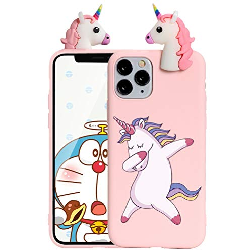 ZhuoFan Case for Apple iPhone X/iPhone XS - Cute 3D Funny Cartoon Character Soft TPU Silicone iPhoneX Cover Phone Case for Kids Girls, Shockproof Slim Candy Colour Pink Unicorn 2 Skin Shell