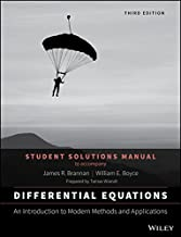Differential Equations: An Introduction to Modern Methods and Applications 3E Student Solutions Manual