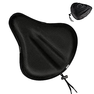 ZEJUN Gel Bike Seat Cover, Comfort Wide Bike Seat Cushion Cover For Women Men, Extra Soft Silicone Bicycle Saddle Pad, Bike Seat Covers Fits Cruiser Mountain Road Stationary Bikes, Indoor Cycling