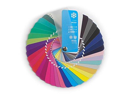 Farbpass Winter-Frühling (Clear Winter) als kleiner Fächer mit 35 typgerechten Farben zur Farbanalyse, Farbberatung, Stilberatung