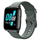 YAMAY Montre Connectée Femmes Homme avec Oxymetre Tensiometre Cardiofrequencemètre Smartwatch Etanche IP68 Montre Sport Podometre Calories Chronometre Montre Intelligente Tactile pour iPhone Android