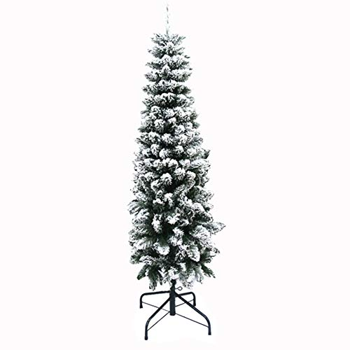 EREAL Planta Un árbol De Navidad con Lápiz De Terciopelo,Brillante árbol De Navidad Encriptado,Delgado árbol De Navidad con Luces-Verde 180cm