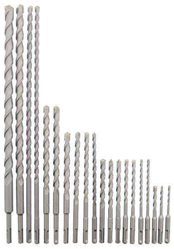 Erie Tools 20 Piece SDS Rotary Hammer Concrete Masonry Carbide Tipped Drill Bit Set fit Milwaukee Hilti Bosch