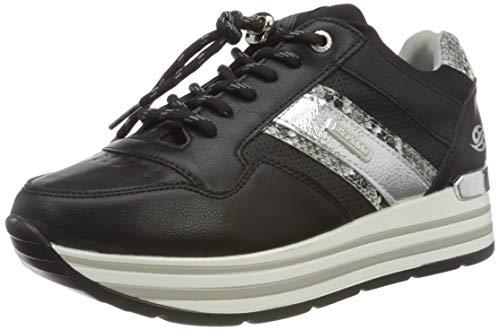 Dockers by Gerli Women's Low-Top Sneakers, Schwarz, 9.5 us
