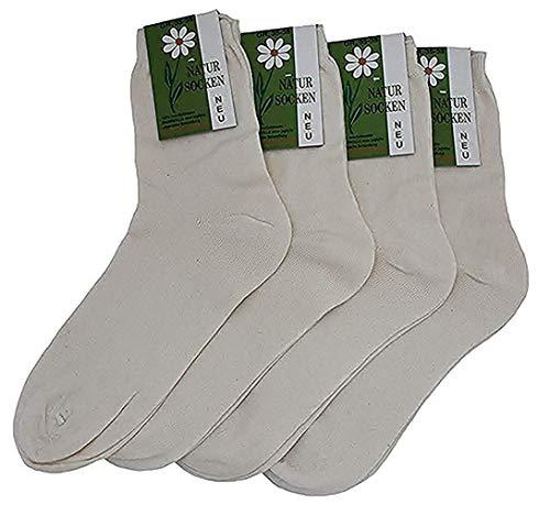Americo R. Damen Socken Naturbelassen 4er Pack Natur 39/42