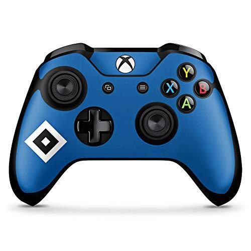 DeinDesign Skin kompatibel mit Microsoft Xbox One X Controller Folie Sticker Hamburger SV Logo HSV