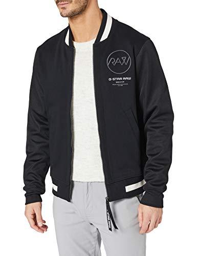 G-STAR RAW Heren Baseball Zip Through Sweatshirt, Dk Black A613-6484, M