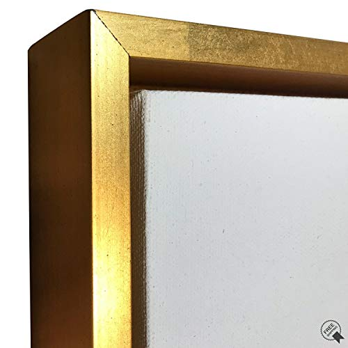 """Gold Floater Frame for 1.5"""" deep Canvas, (Multiple Sizes) (16x20"""")"""