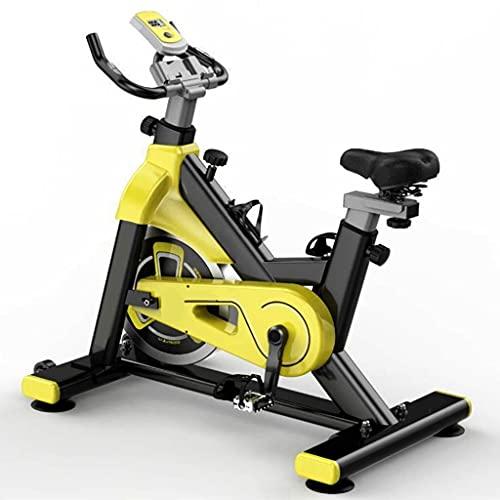 WOERD Bicicleta de Spinning Bicicleta Indoor de Volante de Inercia Ultra Silencioso Aptitud Bici Y AB Trainer Speedbike, Asiento Ajustable, Bicicleta Fitness hasta 150 Kg, Rueda de Inercia de 6kg