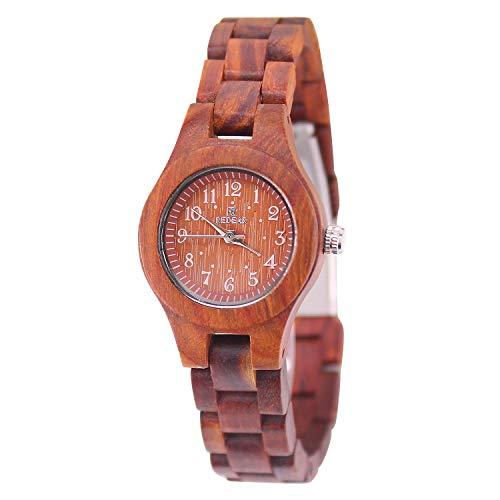 ACMEDE Damen Herren Holzuhr Quarz Uhr mit Holz-Armband SJ1690