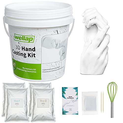 Hand Casting Kit for 4 People - DIY Plaster Statue Molding Kit, Unique Anniversary, Birthday, Wedding Gift - Baby Hand and Feet Mold Keepsake (XL)