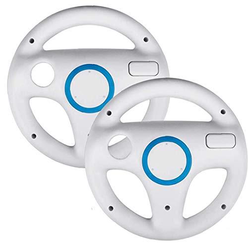2 Pezzi Di Accelerazione Steering Wheel Gioco Vestito Per Una Vestibilità Mario Kart Wii Mario Kart Racing Wheel Per Nintendo Wii Bianco