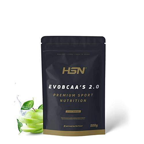 HSN Evobcaa s 2.0, Aminoácidos Ramificados Ratio 12:1:1 (L-Leucina + L-Valina + L-Isoleucina), Sabor Manzana - 500g