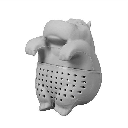 PhoneNatic Niedliches Tier Nilpferd Tee-Ei aus Silikon (BPA-frei) für losen Tee Tee-Infuser