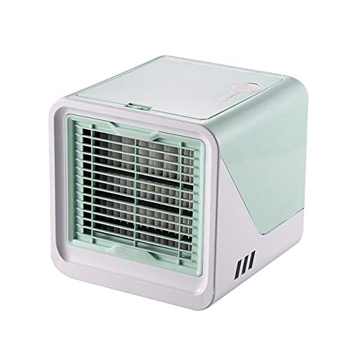 LJQLXJ Fan Pequeños electrodomésticos de Aire Acondicionado USB Arctic Air Cooler Mini Ventilador Ventilador de enfriamiento portátil de Verano, Verde