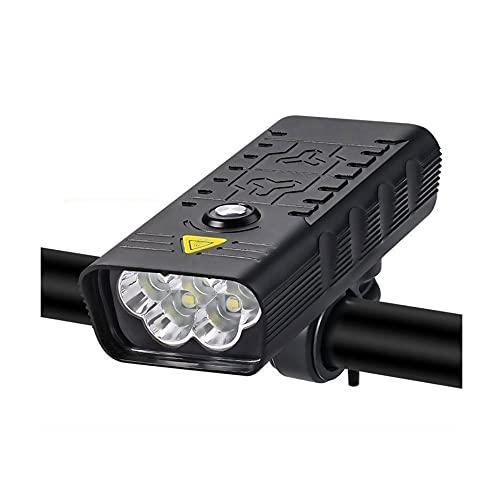 LDH Luces Bicicleta, Accesorios para Bicicletas Recargables USB 3000 Lúmenes Bike Fariture 5T6 LED Linterna Super Brillante Luces Frontales Y Luz Trasera Trasera