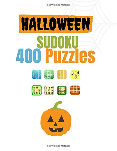 Halloween SUDOKU 400 Puzzles: Activity Book for Adults Young Men and Womens ,154 Pages, 400 Sudoku Puzzles from, Nice Gift in Halloween day Size 8,5x11 Inches