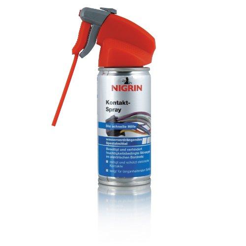 NIGRIN Kontakt-Spray für Elektronik, zur Reinigung und Schutz von elektronischen Kontakten, 100 ml