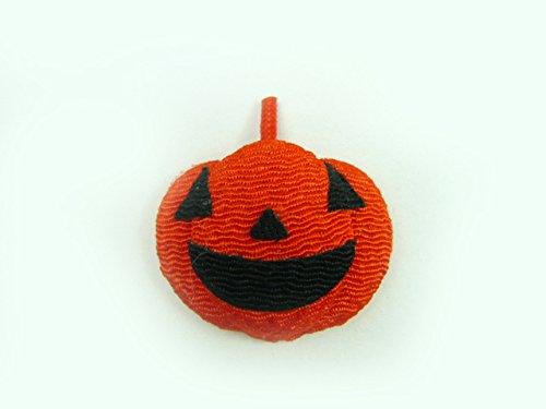ハロウィン ちりめんパーツ◆ちりめん細工 笑うかぼちゃ(1個)