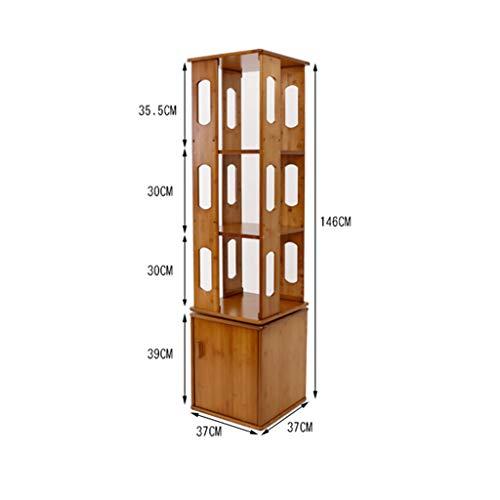 Plank - 360 graden roterende boekenkast staande boekenkast met deur creatieve plank multifunctionele
