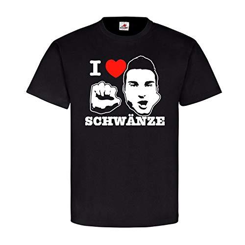 I Love SCHWÄNZE Humor Fun Männer Genital Lolli Junggeselle Party T Shirt #18317, Farbe:Schwarz, Größe:M