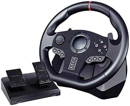 Game Racing Wheel V900 Einstellbares Gaming-Lenkrad mit Pedalen und Vibrations-Feedback für Nintendo Switch PC / PS3 / 4 / Xbox One
