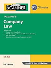 Scanner-Company Law (CS-Executive)(June 2019 Exam-Old Syllabus)(6th Edition January 2019)