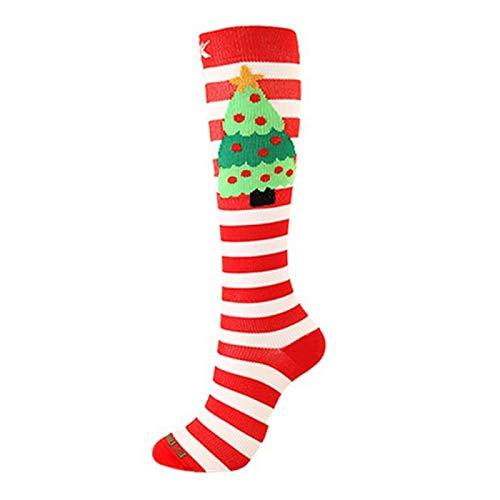 Calcetines deportivos adultos calcetines de compresión calcetines de compresión calcetines de Navidad