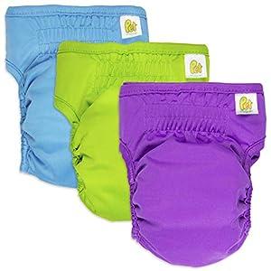 PET MAGASIN Pañales Reutilizables para Perros [Paquete de 3] Pañales Sanitarios para Mascotas, Altamente absorbentes, Lavables a máquina y ecológicos (Solid, S)