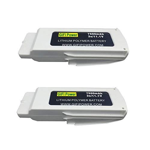 Sdoveb 2pcs 11.1V 7500mAh Lipo Battery for Blade Chroma RC Drone Quadcopter (White)