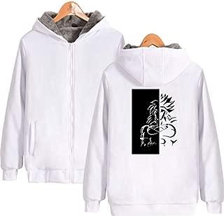Unisex Dragon Ball Anime Print Pullover Sweatshirt Winter Thicken Warm Full-Zip Long Sleeve Hoodie