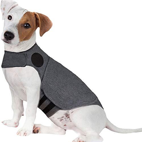 AZWER Chaqueta de Perro Anti-ansiedad, Comodidad Chaqueta Caliente Chaleco para Perros Anti ansiedad y Alivio de estrés calmado para Perros Mantener la Ropa de Envoltura Tranquila,XL(65—110Ibs)