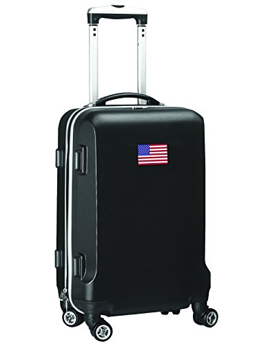 'Flag of America' Carry-On Hardcase Luggage Spinner, Black