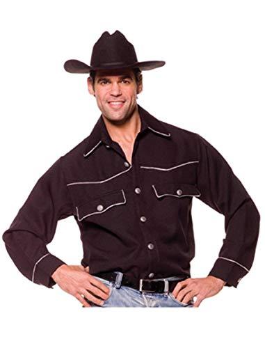klassisches Cowboyhemd, schwarz - XL