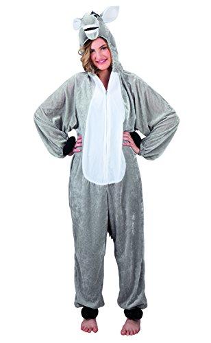 Boland 88010 - Erwachsenenkostüm Esel Plüsch, bis zu einer Körpergröße von 180 cm, Plüschkostüm, Ganzkörperkostüm, Tier, Motto Party, Karneval