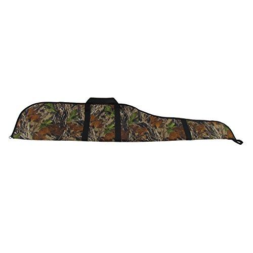 Tourbon Bolsa de nailon acolchada para rifle táctico de caza de camuflaje de 142 cm para cazador