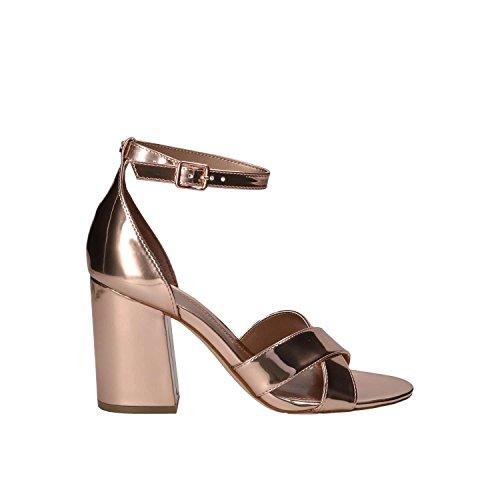 Guess Schuhe Absatz-Sandaletten glänzende Damen Pumps in Glitter-Optik Sandale Abend-Schuhe Rosé Gold, Größe:39