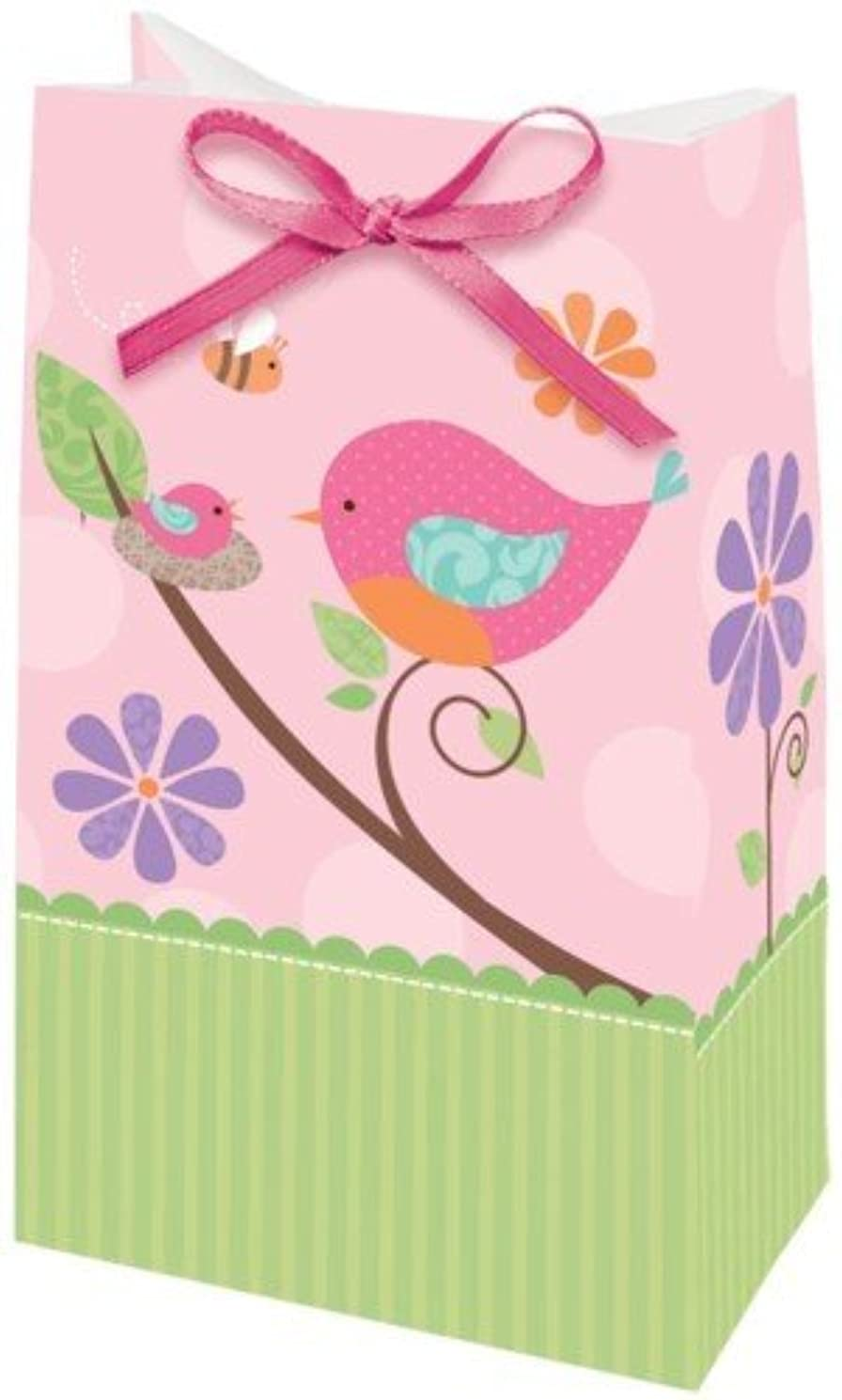 Tweet Baby Girl Baby Shower Paper Favor Bags (12 ct)