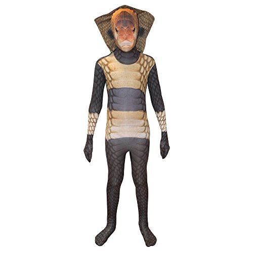 Morphsuits King Cobra Kids Animal Planet Costume - Size Large 4'-4'6 (120cm-137cm)