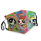 Unisex Powerpuff Girls Mask Adult Face Cover Anti-Dust Balaclava for Outdoor Running Cycling Black