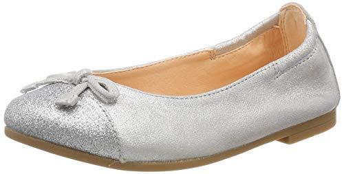 Unisa Mädchen Dino_19_MTS Geschlossene Ballerinas, Silber (Silver), 31 EU