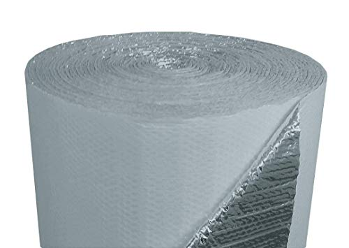 NASATEK Double Bubble White/Foil Reflective Insulation (500sqft = 48ft Wide X 125ft Long) Roll Metal Building, Concrete Slab, Pole Barn, Crawlspace, Basement, Ceiling, Wall, Radiant Flooring ETC