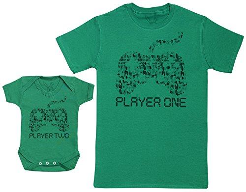 Baby Bunny Player One & Player Two - Regalo para Padres y bebés en un Cuerpo para bebés y una...