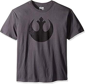 STAR WARS Men's Rebel Alliance Logo Emblem T-Shirt Charcoal