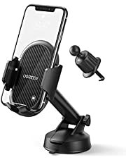UGREEN Windscreen Car Phone Holder Suction Cup Dashboard Mount Air Vent Mobile Clamp Cradle Long Arm Compatible with iPhone 12 11 Pro Max XR XS X 8 7 SE,Samsung S20 S10 A71 A21s,Huawei P30,Google,Moto