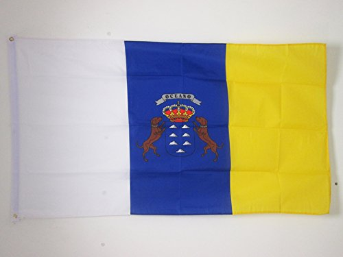 AZ FLAG Bandera de CANARIAS 90x60cm - Bandera Canaria 60 x 90 cm